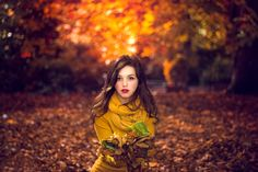 Bokeh The Autumn Portrait Girl Leaves Nature wallpaper by lovewall | RevelWallpapers.net
