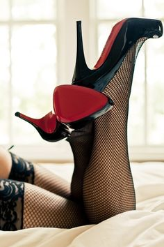 Louboutin Stilettos n Fishnets make a nice combination. Hot Heels, Sexy High Heels, Black Heels, Nylons Heels, Stilettos, Stiletto Heels, High Heel Boots, Heeled Boots, Ankle Boots