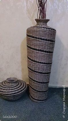 Поделка изделие Плетение последние плетенки 2014 года Трубочки бумажные фото 1