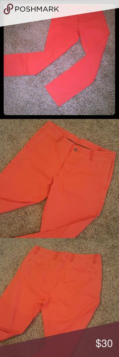 Dockers Red Slim Straight Size 33x34 * Excellent Condition 10/10. Never worn. Orange 100%Cotton. Size 33 Model pics for styling suggestions. Dockers Pants Chinos & Khakis