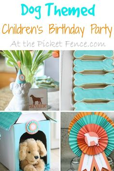 Dog themed children's birthday party from atthepicketfence.com #DogBirthday