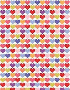 Multicolored Hearts Wrapping Paper at Paper Source (party photo backdrop)