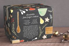 love the idea of putting recipe on wrapping paper and wrapping the gift!