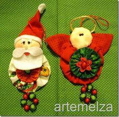 Yo Yo ornaments  how cute are these!! :)