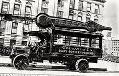 Delivery of the Colgate Clock minute hand to the Jersey City factory, Jersey City, New Jersey, Clarksville Indiana, Colgate Palmolive, New York Pictures, Bergen County, The Good Old Days, Vintage Photography, Vintage Advertisements