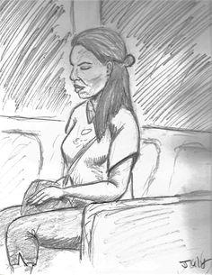 Sketch Bus scene: 2001