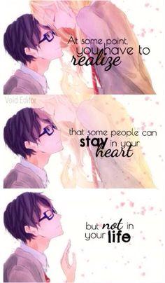 Shigatsu wa kimi no uso Anime Quotes Kawaii Quotes, Sad Anime Quotes, Manga Quotes, Sad Quotes, Inspirational Quotes, Zodiac Quotes, Motivational, Hikaru Nara, Couple Manga