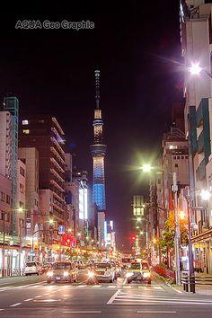 東京スカイツリーライトアップ 粋