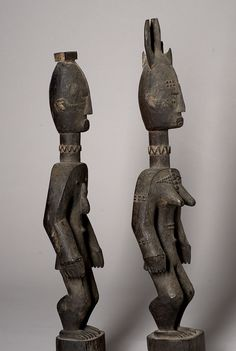"""ijo pair, nigeria. ex piere loos All these Pieces belong to the Gallery of """"Africanart-Treasures.de"""". Home of the Africanart Gallery is Hamburg, Germany, Director: Wolf Nickel"""