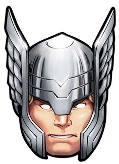 Official Thor Marvel The Avengers Card Party Face Masks Mask - Super Hero God Bruce Banner Avengers, Thor Avengers, Marvel Avengers Assemble, Marvel Kids, Thor Helmet, Cardboard Mask, Party Face Masks, Avengers Birthday, Ironman Birthday