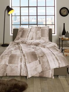 Pościel flanelowa Estella Bruson braun 5012 155x200 - Dommania.pl Comforters, Blanket, Bed, Home, Creature Comforts, Quilts, Stream Bed, Ad Home, Blankets
