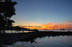 Coucher de soleil sur la Pointe du Bout, Martinique