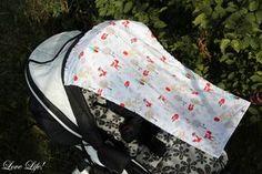 Love Life!: Sonnensegel für Kinderwagen nähen - DIY - shade sails for prums