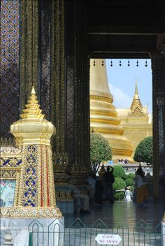 A View Through The Grand Palace ~  Bangkok, Thailand  WELCOME..PIN YOUR FAVORITE PLACES TO TRAVEL, PLAY, STAY & DINE