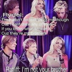 Ratliff just sitting there with a smirk on his face and is like I'm not your Brother. I think Rydelingtons happening !