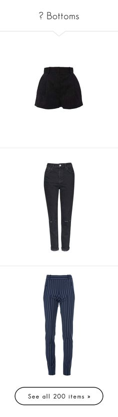 """""""⇉ Bottoms"""" by n0t-official ❤ liked on Polyvore featuring shorts, bottoms, versace, pocket shorts, pinstripe shorts, versace shorts, short shorts, jeans, pants and trousers"""