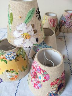 Marna Lunt, workshop embroidered lamp shades