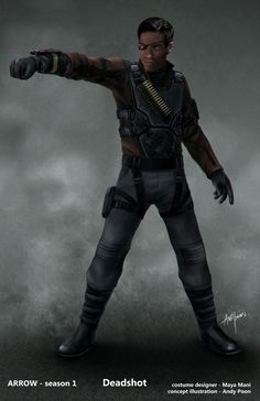 "Deadshot - ""Arrow"" - Concept Art by Andy Poon."