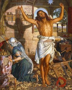 William Holman Hunt: The Shadow of Death Religious Paintings, Religious Art, Paintings I Love, Beautiful Paintings, Manchester City Art Gallery, Manchester Art, Pre Raphaelite Paintings, Catholic Pictures