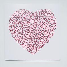 Marian Bantjes Saks Fifth Avenue Valentine Heart, 2008 Client: Saks Fifth Avenue