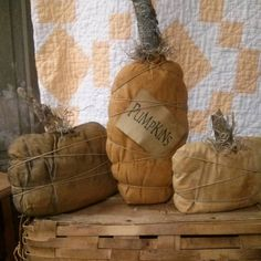 Your place to buy and sell all things handmade Halloween Sewing, Fall Sewing, Fall Halloween, Halloween Crafts, Primitive Pumpkin, Primitive Crafts, Pumpkin Crafts, Fall Crafts, Fall Harvest Decorations