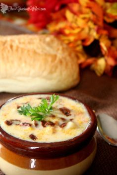 Southern Style Corn Chowder | From TheGraciousWife.com | A traditional southern-style soup. Packed with flavor (and bacon!) Perfect for a chilly evening! From TheGraciousWife.com #recipe #soup