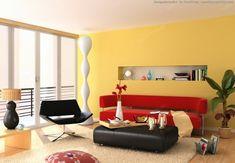 Wände streichen – Ideen für das Wohnzimmer - wände streichen ideen wohnzimmer gelb frisch hell