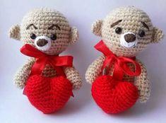 Amigurumi orsetti con cuore