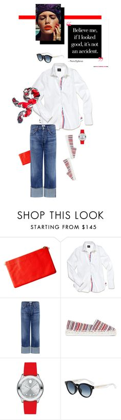 """""""Look Good"""" by mathilda-moo ❤ liked on Polyvore featuring Lauren Cecchi, Slater Zorn, Citizens of Humanity, Castañer, Movado, Fendi, Tory Burch and CasualChic"""