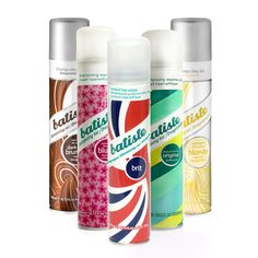 BATISTE dry shampoo. The best.   Fragrances:     Blush: very strong floral fragrance. Not bad, but a little overwhelming.  Paisley: love it. Smells kindof like ralf purfume.