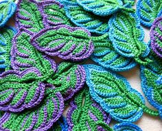Classical leaves motifs of traditional Irish Crochet and new modern designs