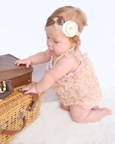 a125eb494fc4 DIY Lace Baby Romper - I am going to make this happen. Diy Lace Romper
