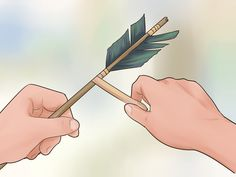 How to Make a Bow and Arrow. Once the weapon of choice for everyone from Native American hunters to Turkish armies, the bow is one of the oldest hunting (and fighting) tools on Earth. While it is not a match for modern weaponry and now you. Wooden Bow And Arrow, Bow And Arrow Diy, Diy Bow, Native American Projects, Native American Tools, Survival Weapons, Survival Skills, Arrow Art, Sand Crafts