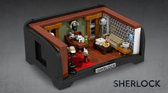 The set recreates the consultation room from 221b Baker Street, and comes with Sherlock, Watson and Mrs Hudson.