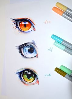 Human Animal Eyes by Lighane