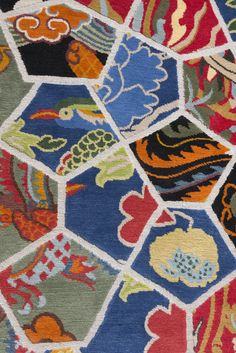 Detail of Dutch Landscapes rug by Roderick Vos for ICE International
