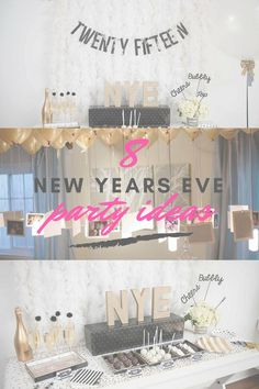 New Years Eve, New Year, Happy new Year, Party ideas, adult party, popular pin, DIY new year, New Year party hacks