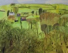 Elaine Pamohilon,     'nature reserve fulbourn' -   mixed media on canvas