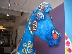 Troy Horse from  Horse Mania in 2000 is residing in the DAC's front window.
