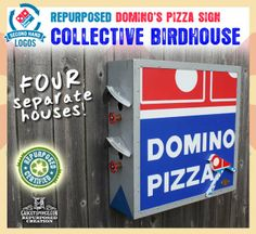Domino's SecondHandLogos.com Repurposing Campaign Project by GadgetSponge.com - Repurposing, Upcycling, Birds & Nature