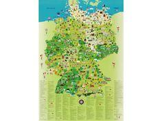 Deutschlandkarte für Kinder - Karten für Kinder - Geo Kinderwelt