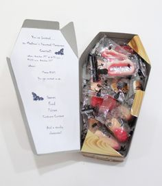 "Coffin full of Candy ""Halloween Party Invitation"""