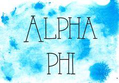 alpha phi on canvas