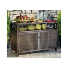 Outdoor Buffet Table with Cabinets Buffet Cabinet Pinterest