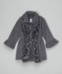 Clara would look ADORABLE in this :) Look at this #zulilyfind! Charcoal Double-Ruffle Coat - Infant by Mack & Co #zulilyfinds