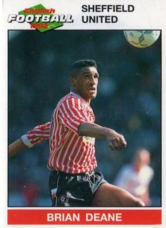 SHEFFIELD UNITED - Brian Deane 204 PANINI English Football 1992 Collectable Sticker