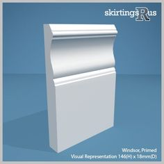 Buy Victorian MDF Skirting Board - This design references the architecture of the era with its elaborate period detailing. Crafted from high density MDF for superior quality.
