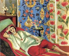 Odalisque in Red Trousers, 1921 Henri Matisse