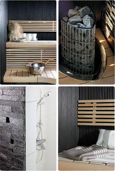 NO HOME WITHOUT YOU: KURKISTUS SAUNAAN Rustic Saunas, Interior Garden, Modern Rustic, Monet, Spa, Feeling Well, Indoor, House Design, Inspiration