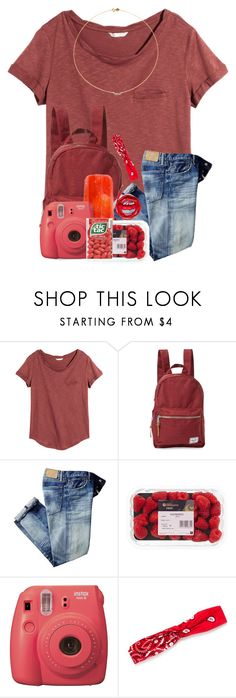 """~r e d   f a s h i o n~"" by cassieq6929 ❤ liked on Polyvore featuring H&M, Herschel Supply Co., Fujifilm, Urbanears, Red Camel and Sole Society"